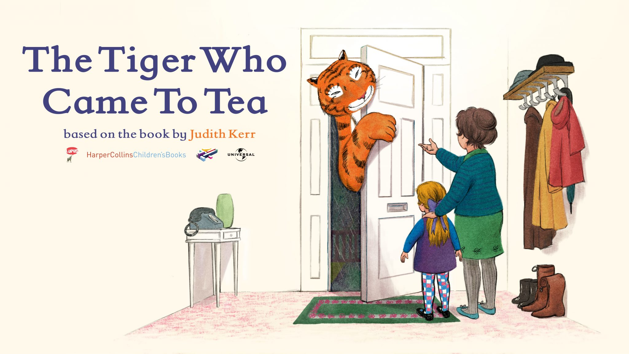 The Tiger Who Came to Tea promotional image, courtesy of Lupus Films