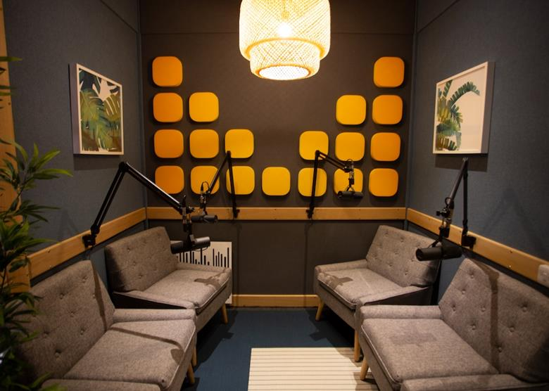 Image result for podcast wall