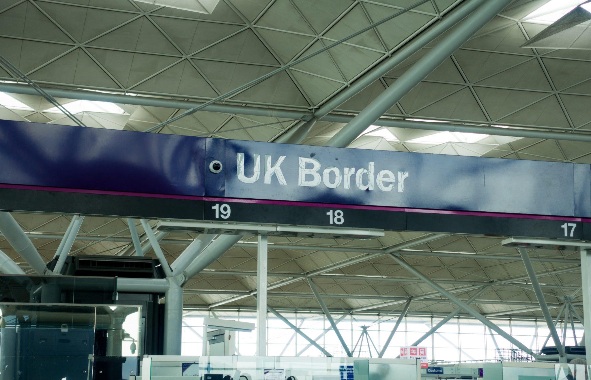 Airport passport control - UK border