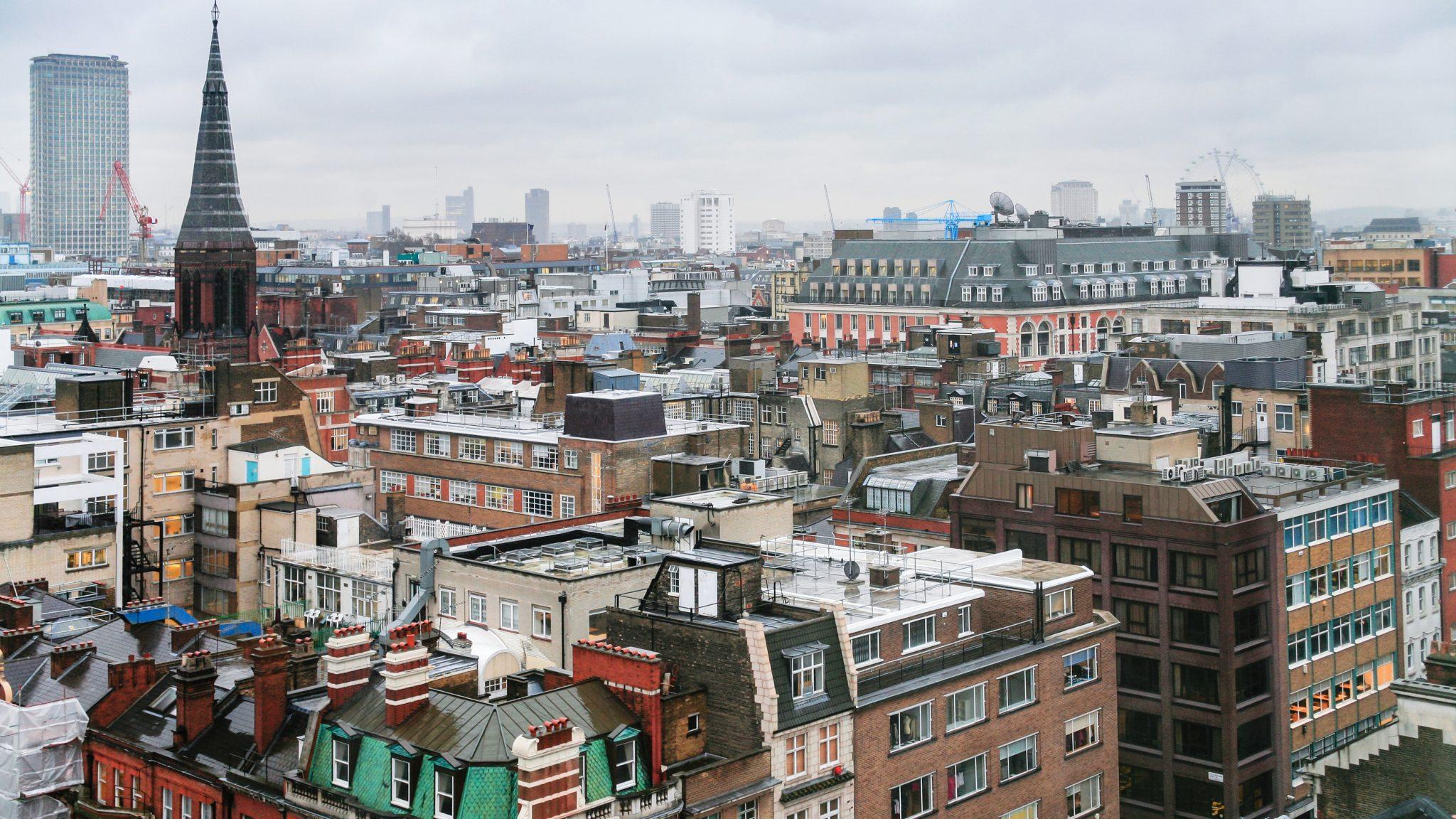 Soho London skyline
